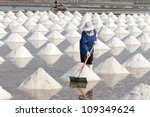 saline in Samutsakorn, thailand - stock photo