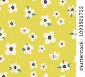 Seamless vector pattern with small Flowers. Cute and simple ditsy texture.
