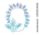 elegant frame with floral... | Shutterstock .eps vector #1093514036