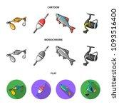 fishing  fish  catch  hook ... | Shutterstock .eps vector #1093516400