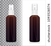realistic brown bottle with... | Shutterstock .eps vector #1093528574