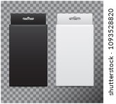 realistic cardboard box set.... | Shutterstock .eps vector #1093528820