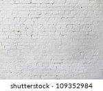 White Brick Wall Closeup Texture