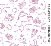 seamless pattern with foods...   Shutterstock .eps vector #1093534988