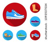 a variety of shoes flat icons...   Shutterstock .eps vector #1093537034