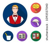 restaurant and bar flat icons... | Shutterstock .eps vector #1093537040
