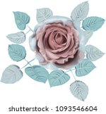 ice  roses _ stylized vector... | Shutterstock .eps vector #1093546604