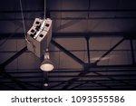 hang up the audio set. outdoor... | Shutterstock . vector #1093555586