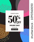 holiday sale banner  50  off... | Shutterstock .eps vector #1093560050