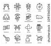set of 16 simple editable icons ... | Shutterstock .eps vector #1093560206