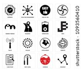 set of 16 simple editable icons ...   Shutterstock .eps vector #1093560410