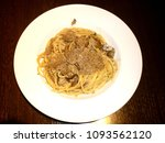 Small photo of Pasta with porcini and Truffle mushrooms