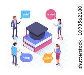 language school concept banner ... | Shutterstock .eps vector #1093562180
