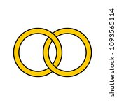 vector golden rings icons | Shutterstock .eps vector #1093565114