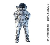 astronaut on white. mixed media | Shutterstock . vector #1093568279