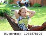 little girl having a rest in a...   Shutterstock . vector #1093578908