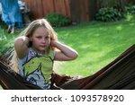 little girl having a rest in a...   Shutterstock . vector #1093578920