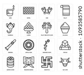 Set Of 16 Simple Editable Icon...
