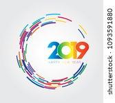 vector illustration of happy... | Shutterstock .eps vector #1093591880