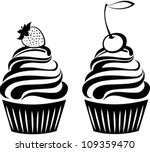cute cupcakes set isolated on... | Shutterstock .eps vector #109359470