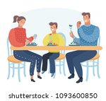 vector cartoon illustration of... | Shutterstock .eps vector #1093600850
