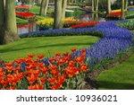 Beautiful Garden Of Colorful...