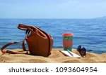 objects on the sand with... | Shutterstock . vector #1093604954