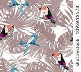 beautiful tropical seamless... | Shutterstock .eps vector #1093613573