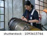 aircraft mechanic working | Shutterstock . vector #1093615766