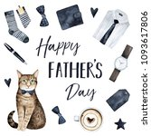 happy father's day greeting... | Shutterstock . vector #1093617806