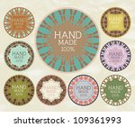 vintage label for retro banners....   Shutterstock .eps vector #109361993