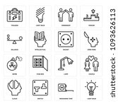 set of 16 simple editable icons ... | Shutterstock .eps vector #1093626113