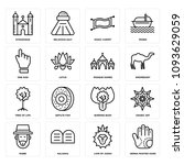 set of 16 simple editable icons ... | Shutterstock .eps vector #1093629059