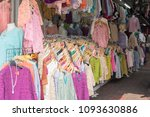 clothing in the market | Shutterstock . vector #1093630886