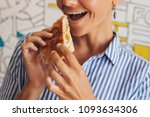 cheese sandwich served for lunch | Shutterstock . vector #1093634306
