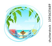 summer seaside card  vacation...   Shutterstock .eps vector #1093635689