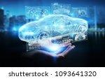 businesswoman on blurred... | Shutterstock . vector #1093641320