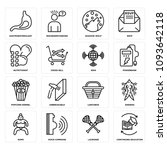 set of 16 simple editable icons ... | Shutterstock .eps vector #1093642118