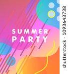 unique artistic design card  ... | Shutterstock .eps vector #1093643738