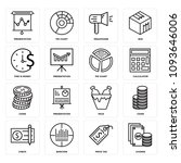 set of 16 simple editable icons ... | Shutterstock .eps vector #1093646006