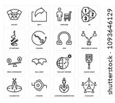set of 16 simple editable icons ... | Shutterstock .eps vector #1093646129