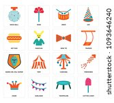 set of 16 simple editable icons ...   Shutterstock .eps vector #1093646240