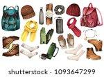 watercolor fashion illustration....   Shutterstock . vector #1093647299