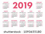 calendar 2019 pocket. vector...   Shutterstock .eps vector #1093655180