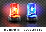 red  and blue flashers siren... | Shutterstock .eps vector #1093656653
