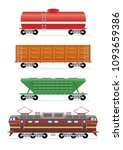 train and wagons   Shutterstock .eps vector #1093659386