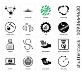 set of 16 simple editable icons ...   Shutterstock .eps vector #1093664630