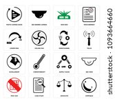 set of 16 simple editable icons ...   Shutterstock .eps vector #1093664660