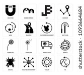 set of 16 simple editable icons ... | Shutterstock .eps vector #1093664684