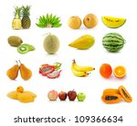 large page of fruits isolated... | Shutterstock . vector #109366634